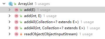 会引起ArrayList扩容的方法